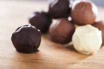 Assorted chocolate truffles — Stock Photo