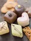 Assorted biscuits and petit fours — Stock Photo