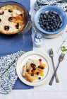 Blueberry and Peach Pie — Stock Photo