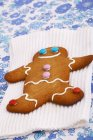 Smiling Gingerbread man — Stock Photo