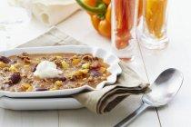 Chili Con Carne mit Mais — Stockfoto