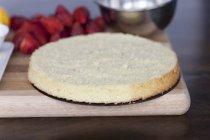 Base per torta di strato fragola torta — Foto stock