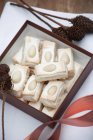 Almond biscuits with meringue — Stock Photo