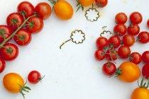 Tomates jaunes et rouges — Photo de stock