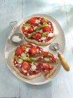 Невелика полуниці піци — стокове фото