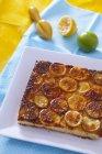 Gâteau au citron à la pointe de l'étain — Photo de stock
