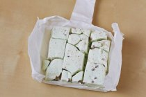 Freeze-dried astronaut ice cream — Stock Photo