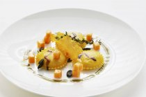 Pasta dei ravioli di zucca — Foto stock
