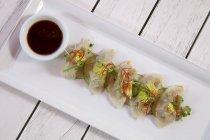 Dim Sum con ripieno di gamberi — Foto stock