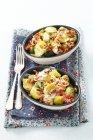 Cavoletti di Bruxelles con pancetta — Foto stock