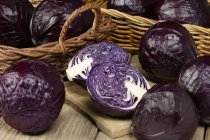 Fresh Red cabbages with halves — Fotografia de Stock
