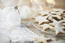 Biscotti alla vaniglia stelle — Foto stock