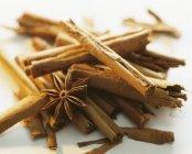 Cinnamon sticks and star anise — Stock Photo