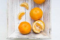 Arance di Clementine con fette — Foto stock