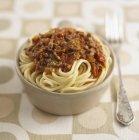 Pasta de espaguetis boloñesa - foto de stock