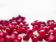 Redcurrants laying on white — Stock Photo