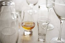 Асорті з бар вироби зі скла — стокове фото