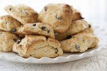 Homemade Scones with raisins — Stock Photo