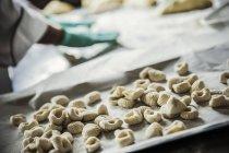Pasta fresca gnocchi — Foto stock