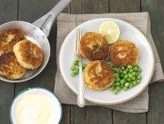 Patate e sgombro affumicato dolci — Foto stock