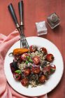 Rice salad with tomatoes — Stock Photo