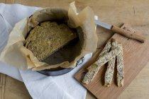 Quark and nut bread — Stock Photo