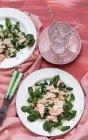 Salmon salad with couscous — Stock Photo