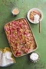 Gâteau crumble à la rhubarbe — Photo de stock