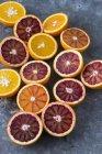 Arance fresche dimezzati — Foto stock