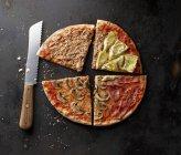 Pizza affettata con tonno — Foto stock