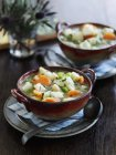 Копченая пикша суп — стоковое фото