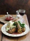 Salsiccia vegetariana da formaggio — Foto stock