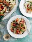 Rigatoni pasta salad — Stock Photo