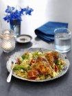 Huhn mit Couscous und Gemüse — Stockfoto