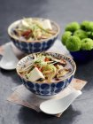 Noodle soup with shiitake mushrooms — Stock Photo