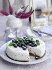 Чизкейк с летних ягод — стоковое фото