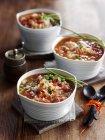 Tomatensuppe mit Reis — Stockfoto