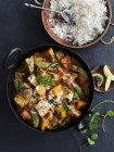 Curry de pavo con arroz - foto de stock
