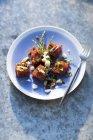 Tonno a dadini con glasswort — Foto stock