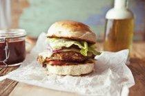 Hamburger vegetariano di fagiolo — Foto stock