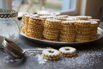 Biscoitos shortbread frutado. — Fotografia de Stock