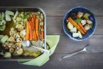 Тушеные овощи шафрана — стоковое фото