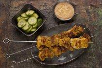 Espetos de frango satay — Fotografia de Stock