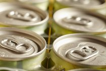Closeup view of packed drinks cans — Stock Photo