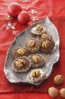 Stuffed walnut pralines — Stock Photo
