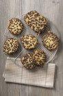 Galletas de chocolate en rack - foto de stock