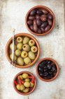 Dried with Kalamata and stuffed olives — Stock Photo