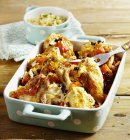 Oliva pollo e pomodoro arrosto — Foto stock