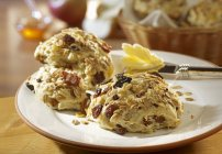 Oatmeals e uvetta panini cotti — Foto stock