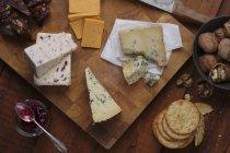 English cheese platter — Stock Photo